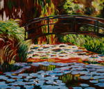 Angelika Fleck - Bassin aux Nympheas Bridge, Giverny