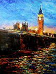 George Ganciu Stories On Canvas - Noite cair sobre Westminster