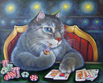 Светлана Кисляченко Jam-Art - Royal Flush (cat jogar poker)