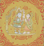 Classical Indian Art Gallery - KRISHNA WEDS RUKMINI