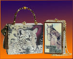 Cigar Box Purses - leopardo e  cavalar