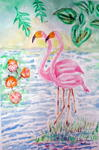 Aloyse Adam - Flamingo