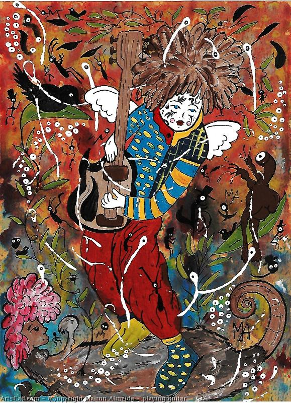 Obra De Arte >> Mairon Almeida >> playing guitar